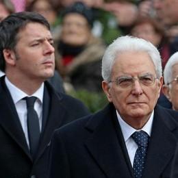 Il presidente della Repubblica Sergio Mattarella con il premier Matteo Renzi