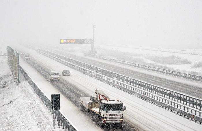La neve sulla Brebemi