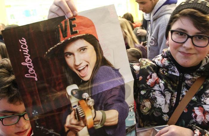 Una giovane fan