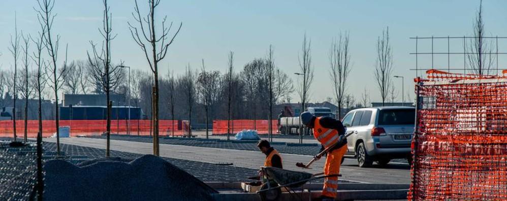 Fervono i lavori a Orio al Serio Nuovo parcheggio: 1.500 posti - Video