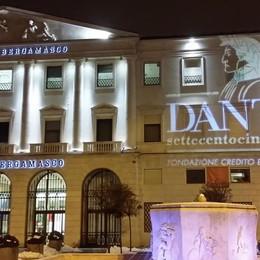 Finesettimana con Dante Alighieri Un fascio di luce lo celebra al Creberg