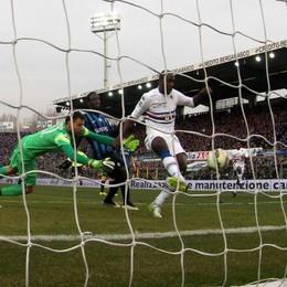 Il gol decisivo di Okaka da un'altra angolazione