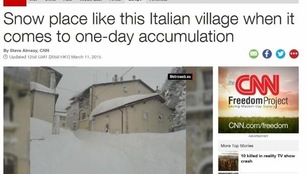 Neve Capracotta fa giro mondo su media