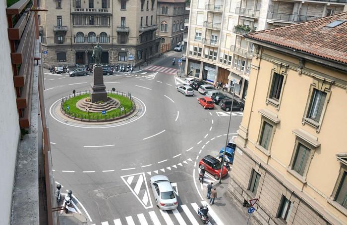 La rotonda dei Mille e il monumento a Garibaldi