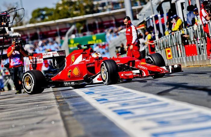 La Ferrari di Sebastian Vettel a Melbourne