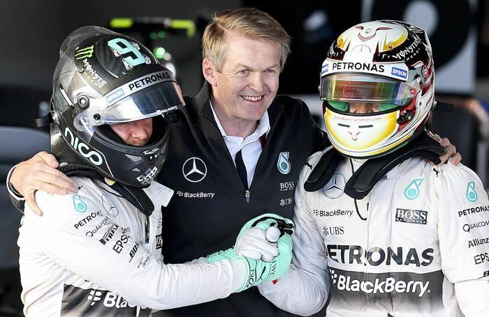 Nico Rosberg a sinistra e Lewis Hamilton a destra, i due primattori a Melbourne