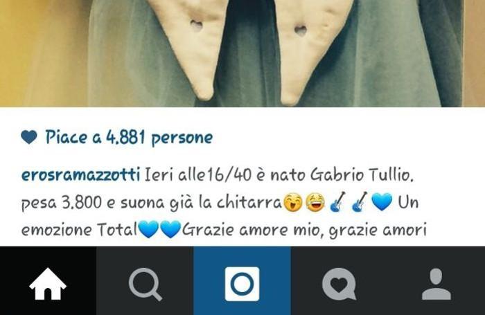 Su Instagram l'annuncio di Eros Ramazzotti