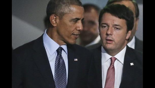 Renzi da Obama a Casa Bianca 17 aprile