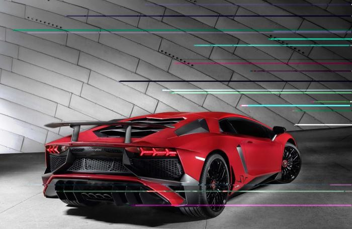 La Lamborghini Aventador LP 750-4 Superveloce