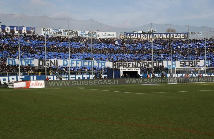 I tifosi dell'Atalanta nella partita contro la Sampdoria
