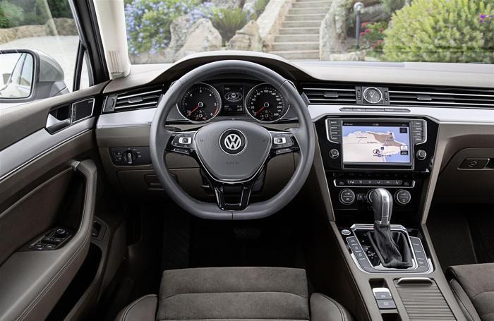 L'interno della Volkswagen Passat
