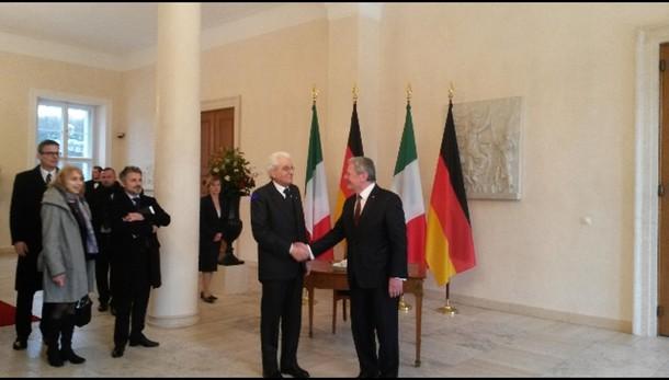 Mattarella a Berlino,vede Gauck e Merkel