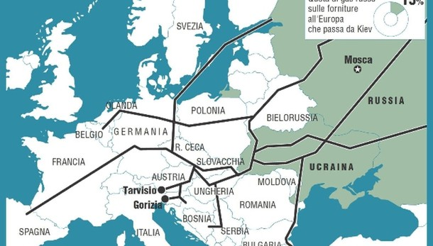Ucraina: intesa sul gas, salve forniture