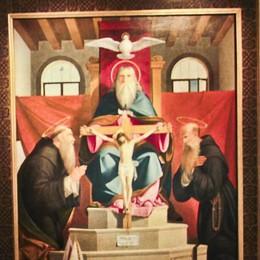 Cardellino, scoiattolo e colombe  Piccoli animali accanto a Gesù