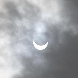 Ecco l'eclissi da Trezzo Sull'Adda