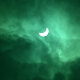 L'eclissi vista da Verdello (foto inviata da Tiziano Chiodi)