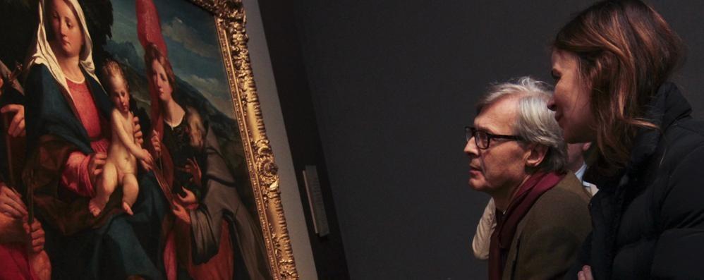 Sgarbi a Bergamo per Palma il Vecchio «Finalmente una mostra originale»