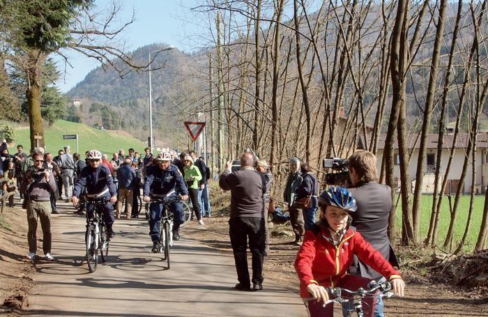 Inaugurazione della pista ciclabile