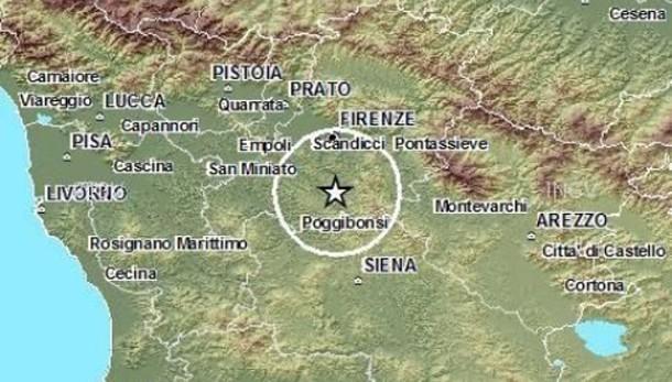 Sciame sismico in Chianti,scossa del 3.7