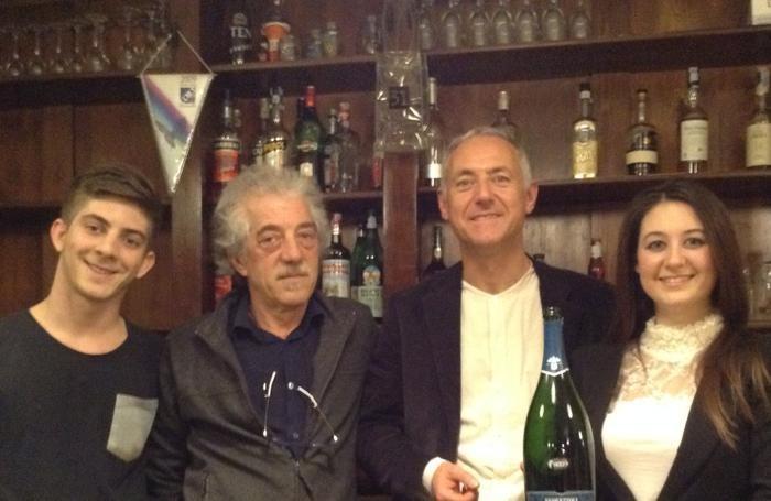 Da sinistra Stefano e Pietro Bongiorno, Ugo e Sara Vezzoli