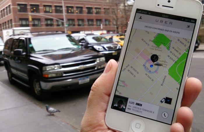 L'applicazione app di Uber a Milano