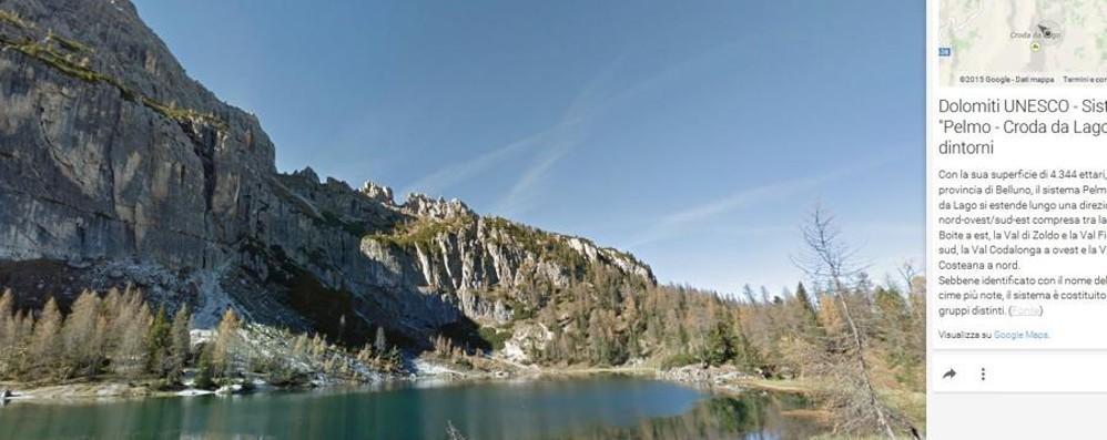Una «scalata virtuale» sulle Dolomiti Lo spettacolo è su Google Street View