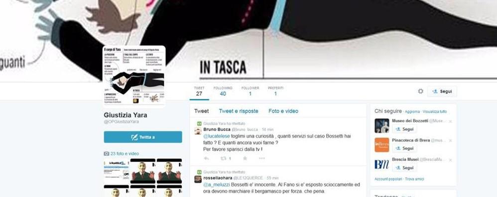 Anonymous, Twitter e il caso Yara Il giallo del profilo e del video