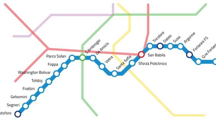 Il tracciato della futura linea 4