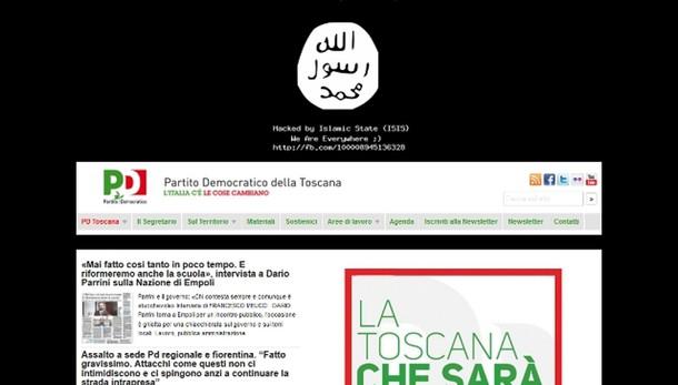 Hacker su sito Pd Toscana, sigla Isis