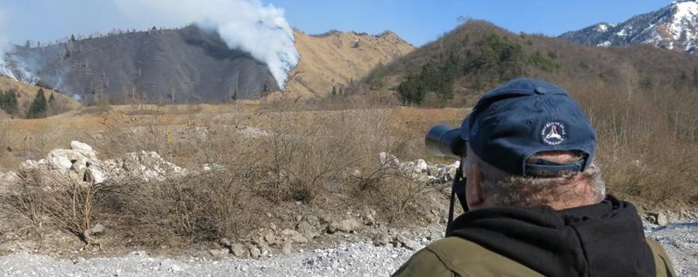 Incendio doloso sul monte Varro Vanno in fumo 70 mila metri quadri