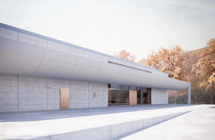 Un edificio polifunzionale realizzato a Buochs su progetto di Angela Deuber