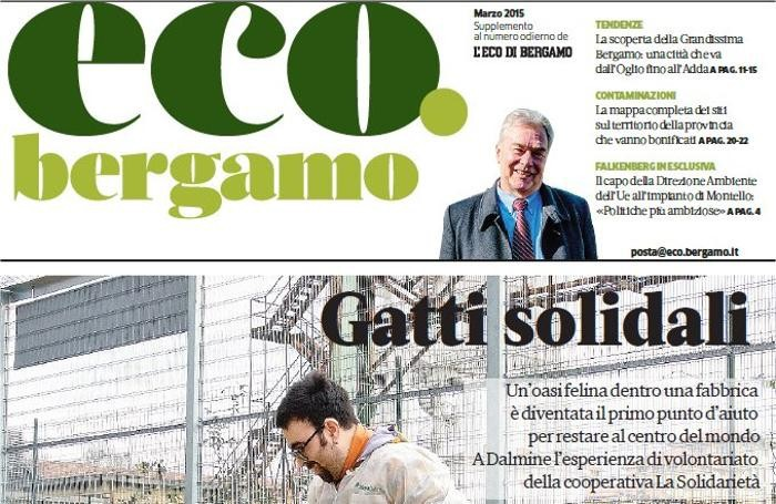 La copertina di «eco.bergamo»