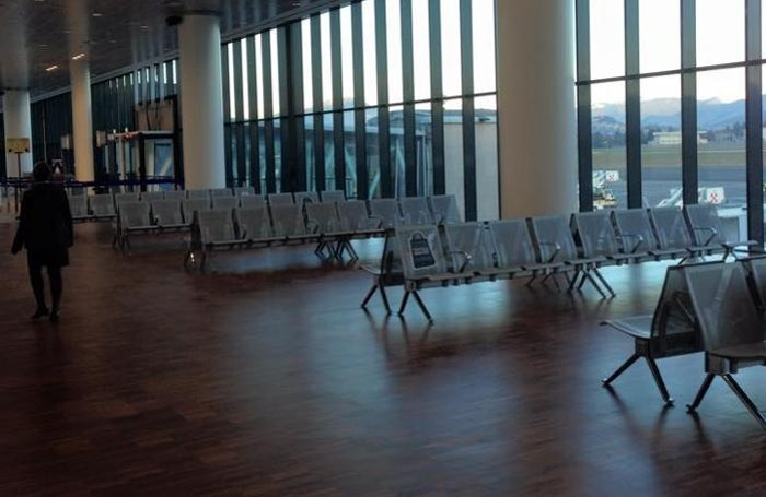 La nuova area partenze dell'aeroporto di Orio al Serio