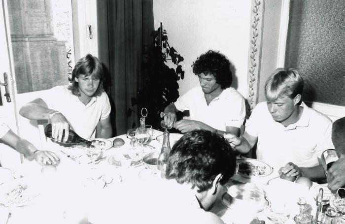 Larsson a destra con Codogno in mezzo e Strombarg a sinistra nel 1984