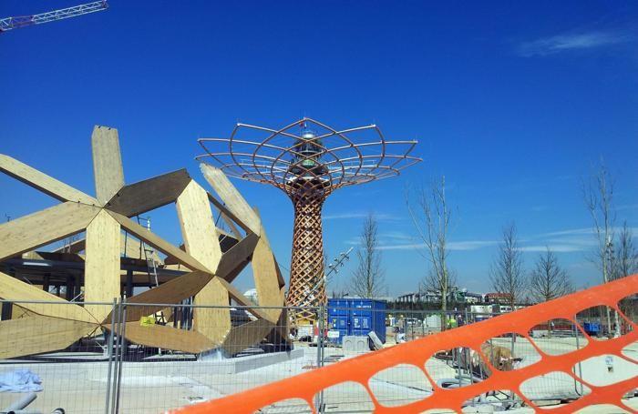 I cantieri dell'Expo 2015 a Milano