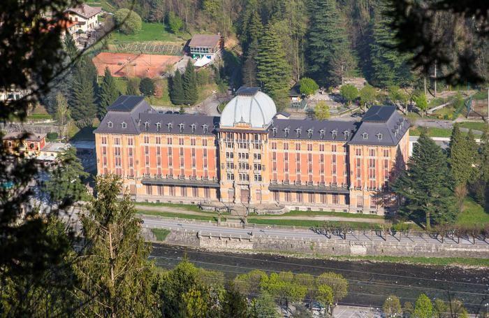 Il Grand Hotel di San Pellegrino visto dall'alto