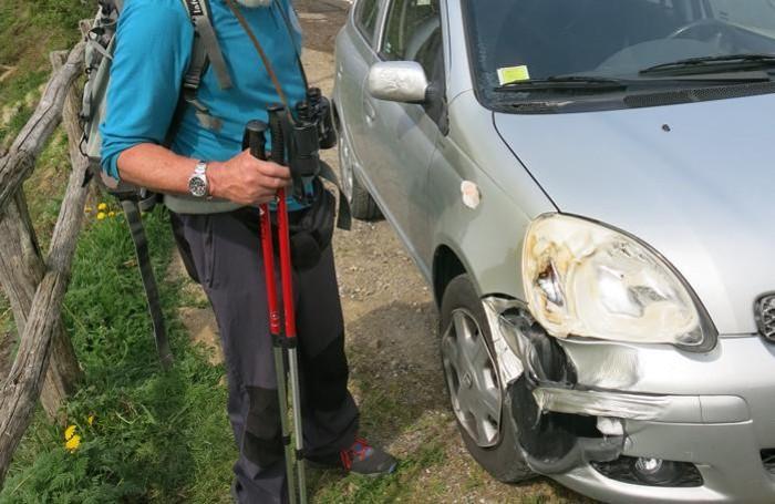 L'altra auto danneggiata
