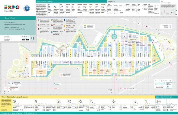 Ecco la cartina dell'Expo
