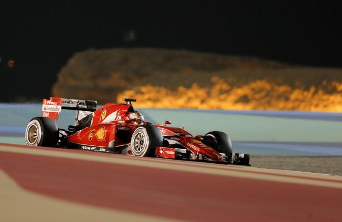 La Ferrari di Vettel che ha concluso il Gp  in 5ª posizione
