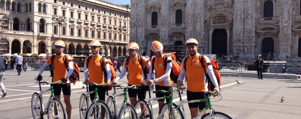 Orobici raddoppia a Milano con Tnt I corrieri in bici più veloci dei furgoni