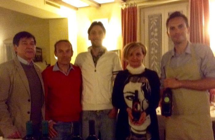 Da sinistra, Berlendis, Bonzi, Manzoni, Ferrario e Daniele Visconti