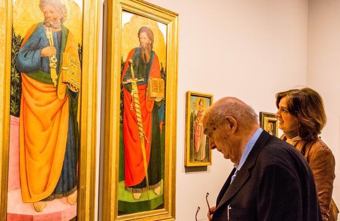 Antonio Paolucci in visita all'Accademia Carrara