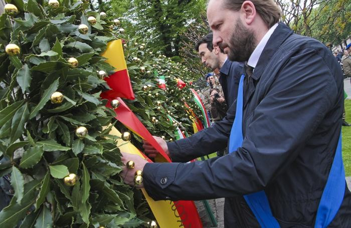 La manifestazione del 25 Aprile: il presidente della Provincia Matteo Rossi