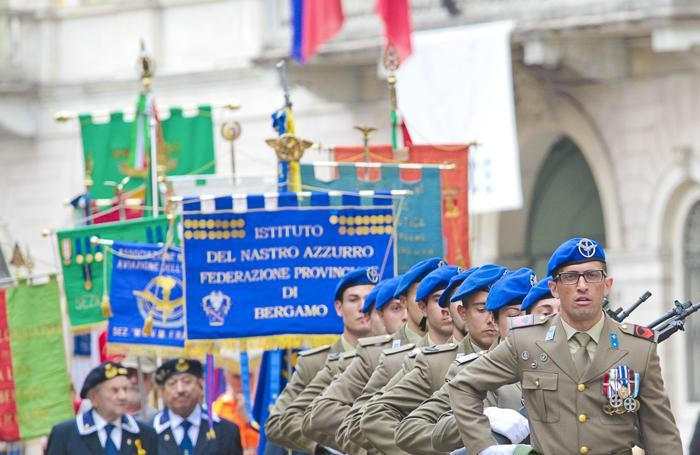 La manifestazione del 25 aprilea Bergamo