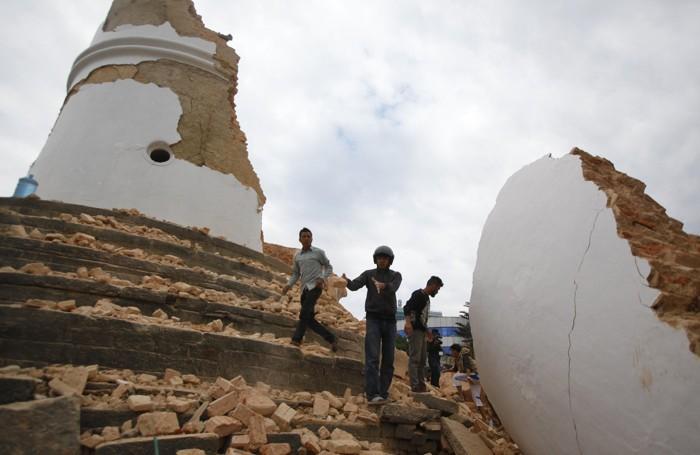 La torre di  Dharahara non esiste più