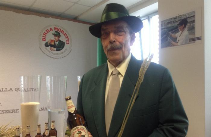 L'attore fiorentino Orso Maria Guerrini che negli spot impersona Baffo Moretti