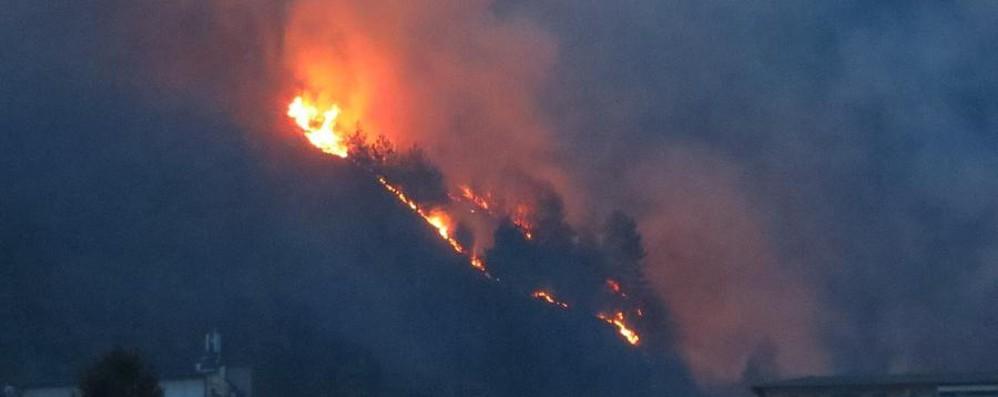 Incendio sul monte Cimiero Multa da un milione per i due giovani