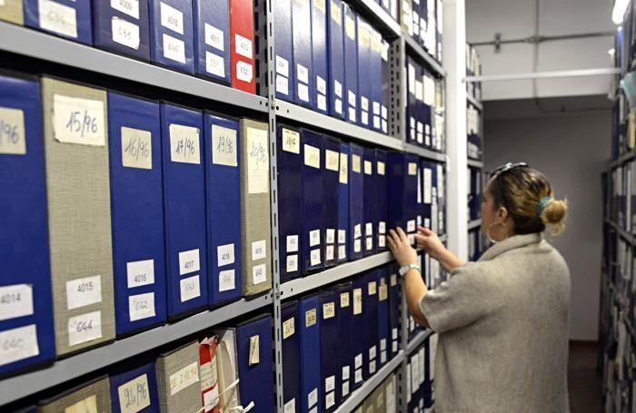 Uno degli archivi comunali