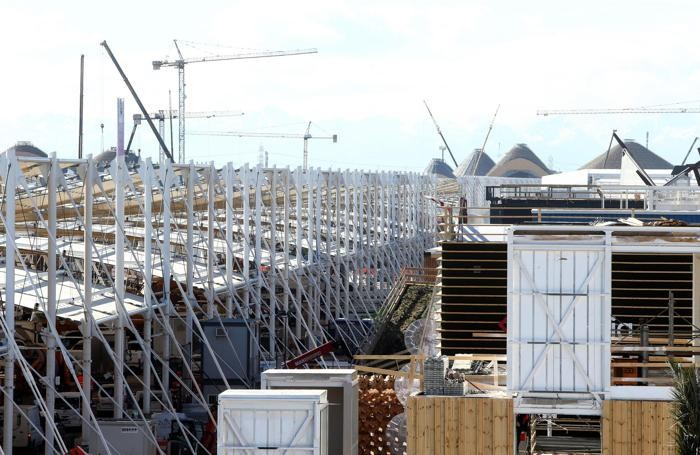 Expo 2015, l'avanzamento dei lavori.