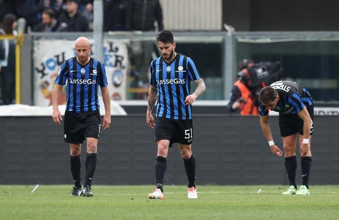 La delusione dell'Atalanta dopo lo 0-2